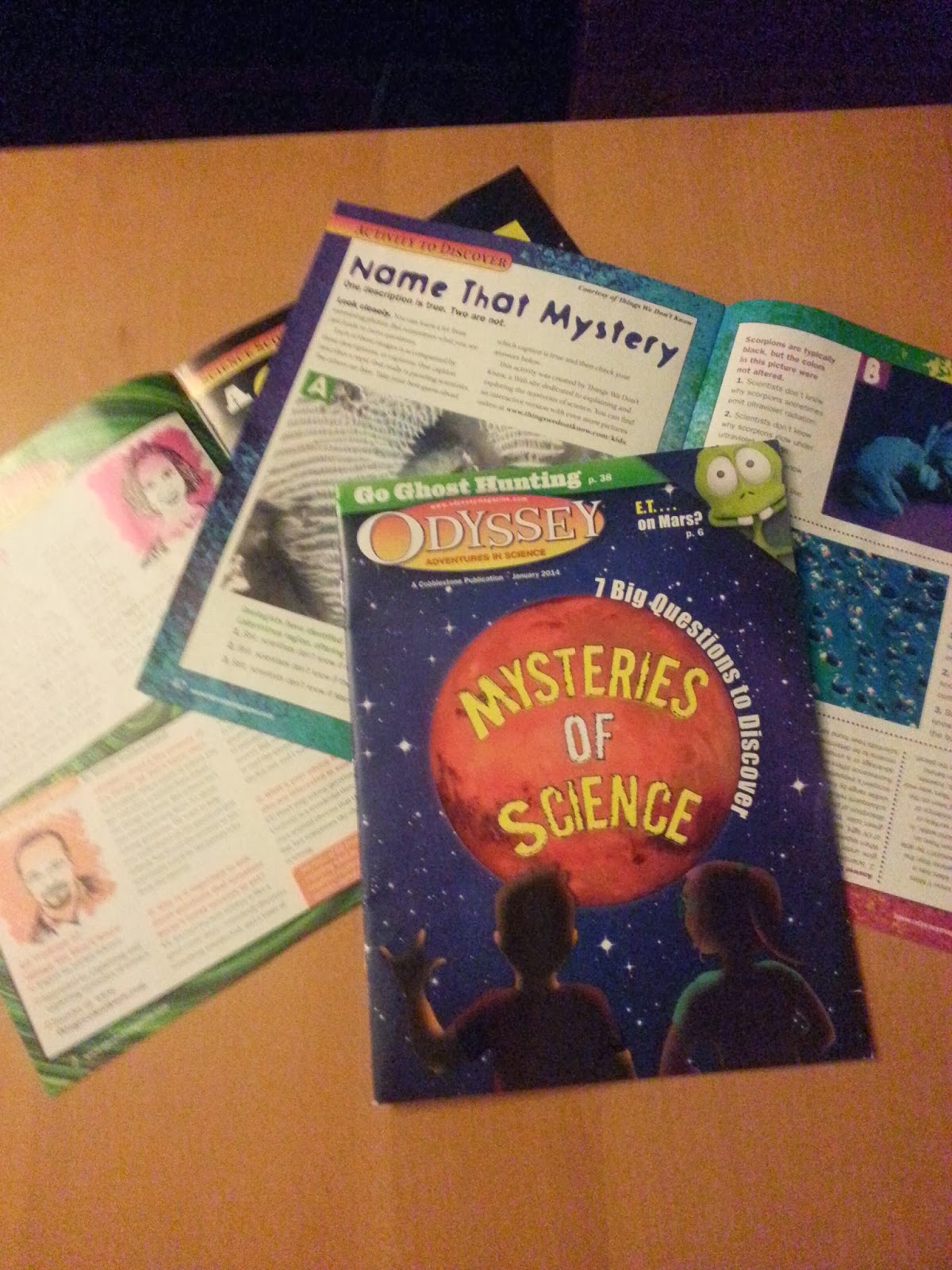 Mysteries of Science magazine Odyssey