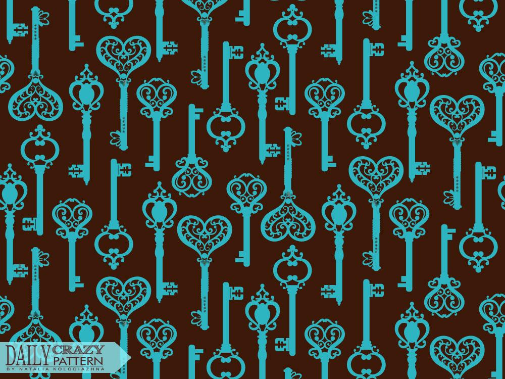 Pattern with cute keys