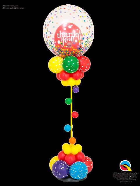 Rainbow Confetti Thanks by Eve Antonello