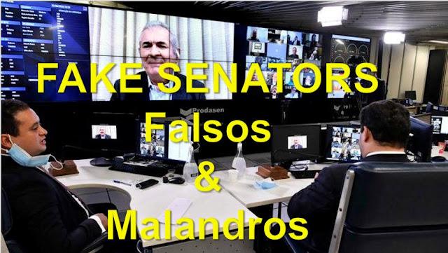 FALSOS & MALANDROS!! Projeto do Senado de Censura da Internet tem apenas o objetivo de proteger as canalhices políticas – e provo