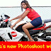 Amaya Wijewicrama Photoshoot with bike