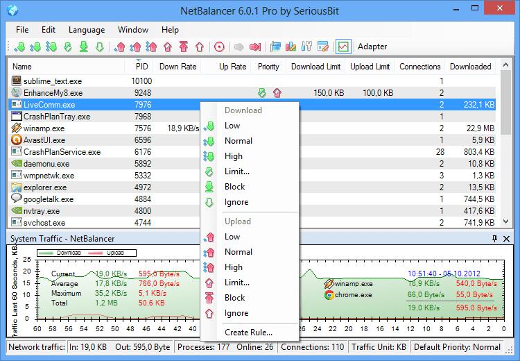 برنامج مراقبة استهلاك الانترنت Netbalancer احدث اصدار