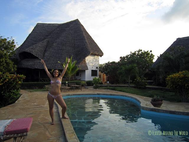 A punto de darme un baño en la piscina de Kenga