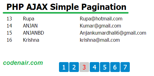 ajax pagination with php