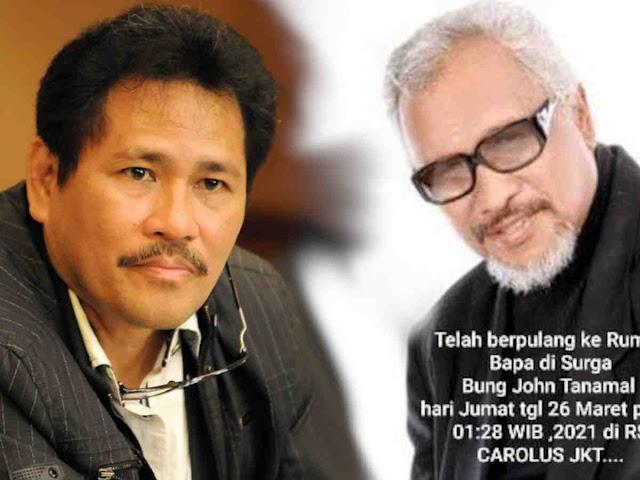 John Tanamal Wafat, Dharma Oratmangun Kehilangan Sahabat Terbaik.lelemuku.com.jpg