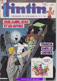Tintin-numéro 52, année 38, 1983, Julie, Claire, Cécile...
