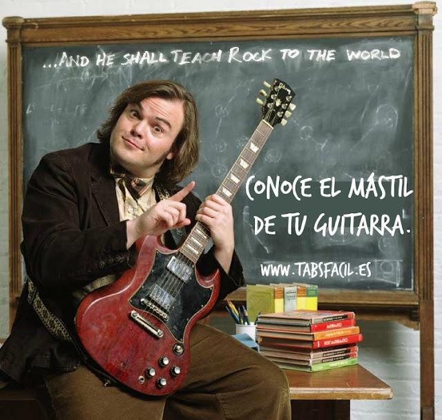 www. tabsfacil.es Dewey finn y el mástil de tu guitarra