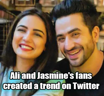 Ali and Jasmine's fans created a trend on Twitter
