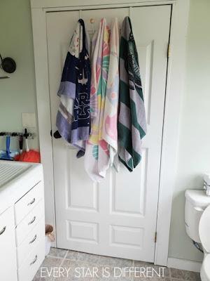 Minimalist Montessori Home Tour: Swim Towel Storage