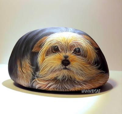 yorkshire dipinti ritratti cani