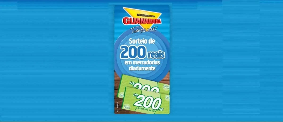 Promoção Guanabara 2020 Vale-Compras 200 Reais Diariamente