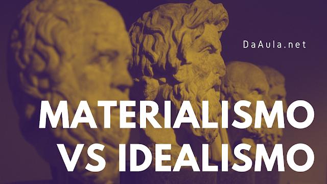 Filosofia: A divisão entre o pensamento materialista e idealista/essencialista