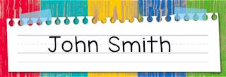 Creative Teaching Press Rustic Stripe Name Plate CTP 4464