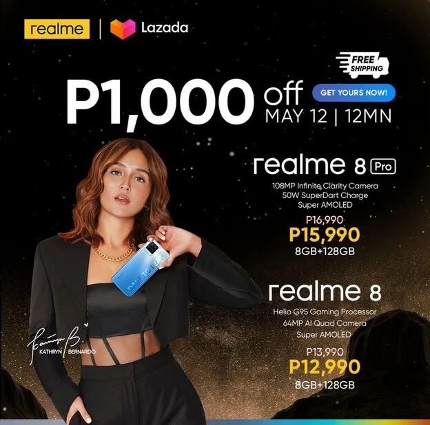realme 8 with Helio G95 Gaming Chip and 64MP Quad Camera Arriving this May 12 at Lazada with Php1,000 Off and Free Shipping