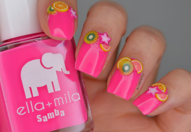 Ella and Mia I Pink I Love You Swatch