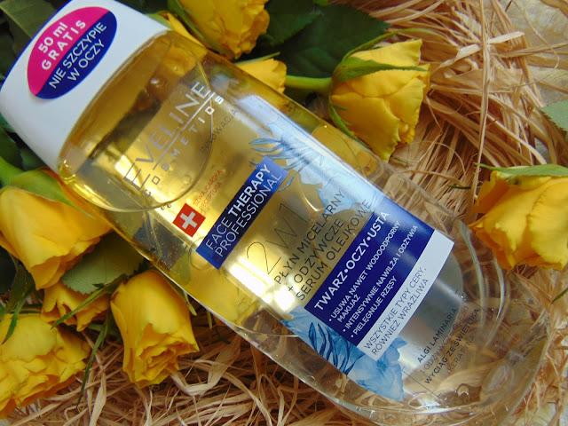 Eveline Cosmetics - Nowości do pielęgnacji cery - Płyn micelarny + odżywcze serum olejkowe oraz Żel micelarny 2w1