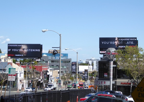 13 Reasons Why Netflix billboards Sunset Strip