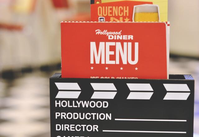 Diner menu Hollywood Bowl