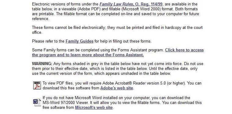 Cas ontario blog ontario family law court forms it will allow you to view the fillable forms you can download this free software from microsofts web site altavistaventures Choice Image
