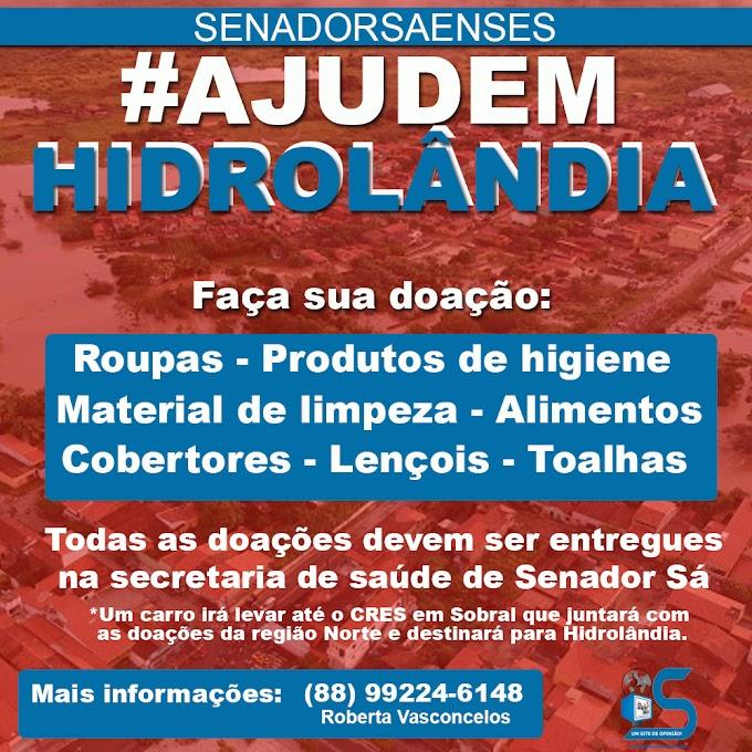 Sec. de saúde de Senador Sá está recebendo doações para Hidrolândia