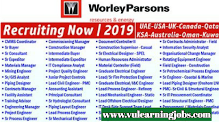 Worley Parsons Jobs - Middle East - Jobs In 2019
