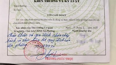 Quảng Ngãi Mất việc vì bị UBND xã phê lý lịch không tốt