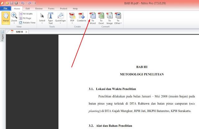 konversi pdf ke word nitor pdf