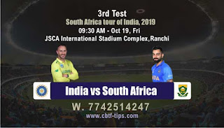 Who will win Today, South Africa tour of India, 2019, 3rd Test Match RSA vs Ind