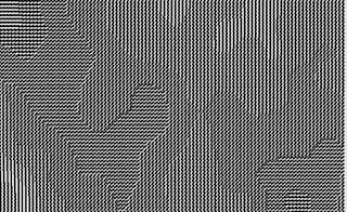 2次元ノイズで方向を変化させた沢山の線