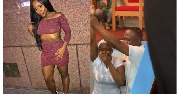 Slay queen addicted to sex, p0rn, masturbation repents after being baptized (Photos)