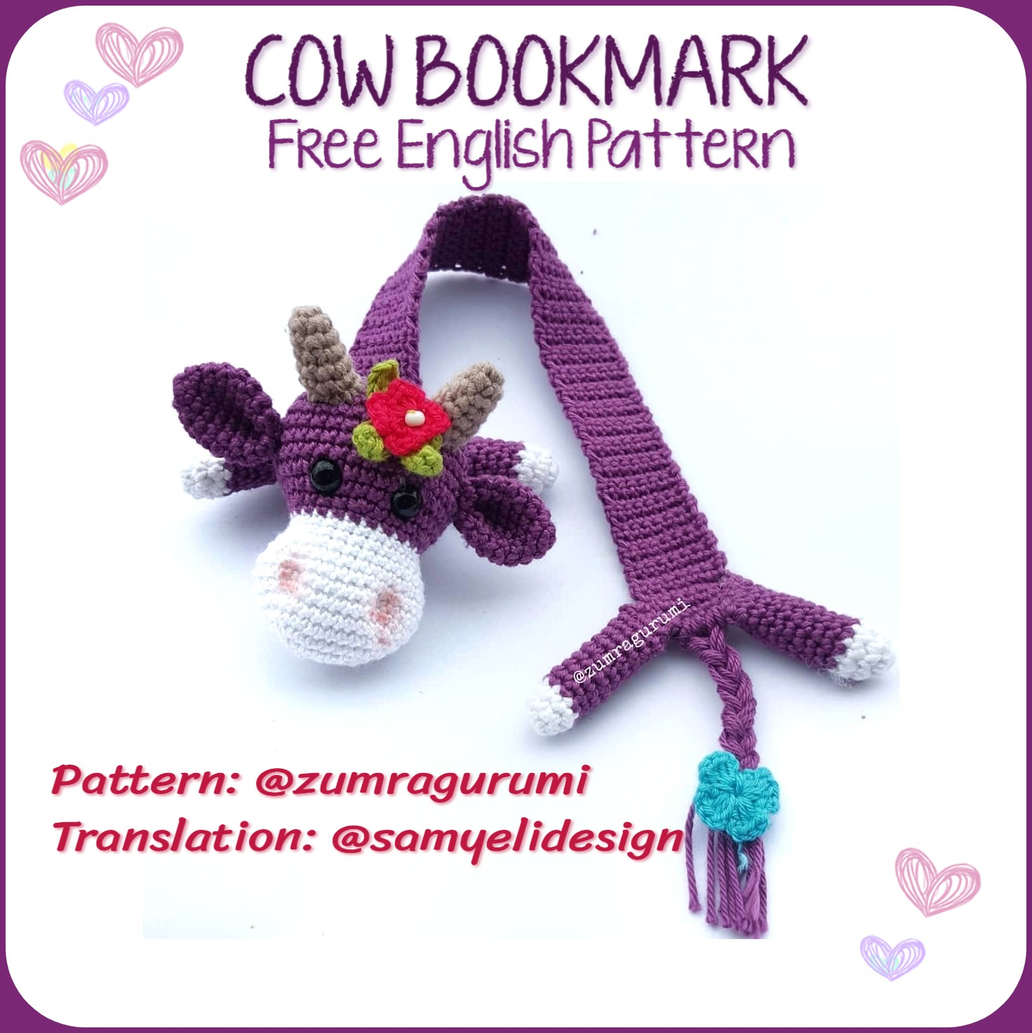 Amigurumi Mouse Bookmark Free Crochet Pattern | 1474x1473