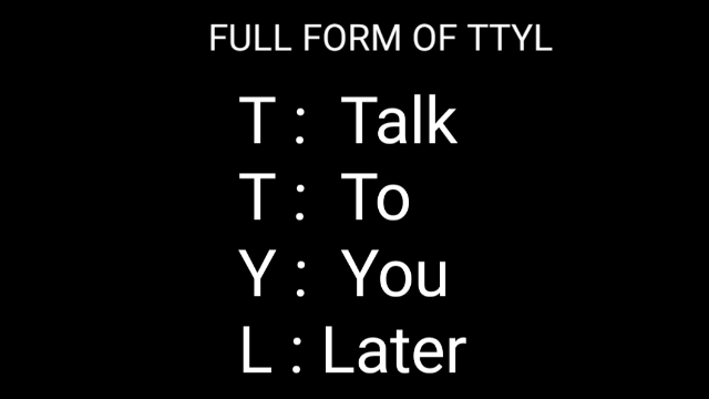 ttyl full form