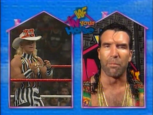 WWF / WWE - In Your House 1 - Razor Ramon took on Jeff Jarrett and The Roadie in a 2-1 handicap match