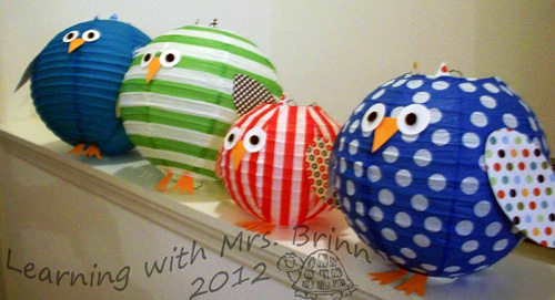 Diy Paper Owl Lanterns