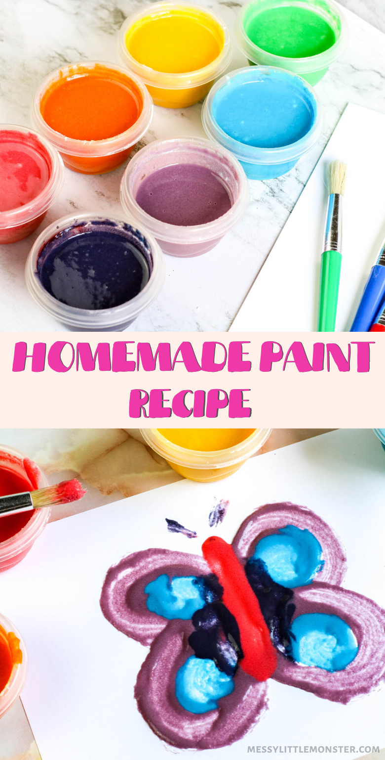 Homemade paint recipe.