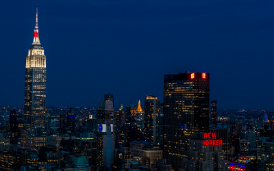 Empire State Building showing its heart