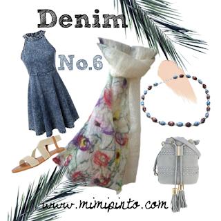 Fashion ensemble in denim by Mimi Pinto