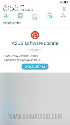 Notifikasi Pembaruan Android Zenfone