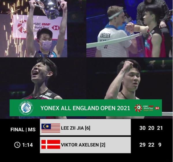 Tahniah Lee Zii Jia, Juarai All England 2021!