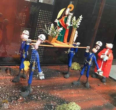 exposición, plastilina, minería, museo, siderurgia, Sabero, Santa Bárbara, procesión