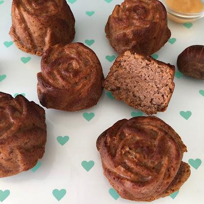 Gâteaux simplissime à la compote de pomme et à la farine de châtaigne