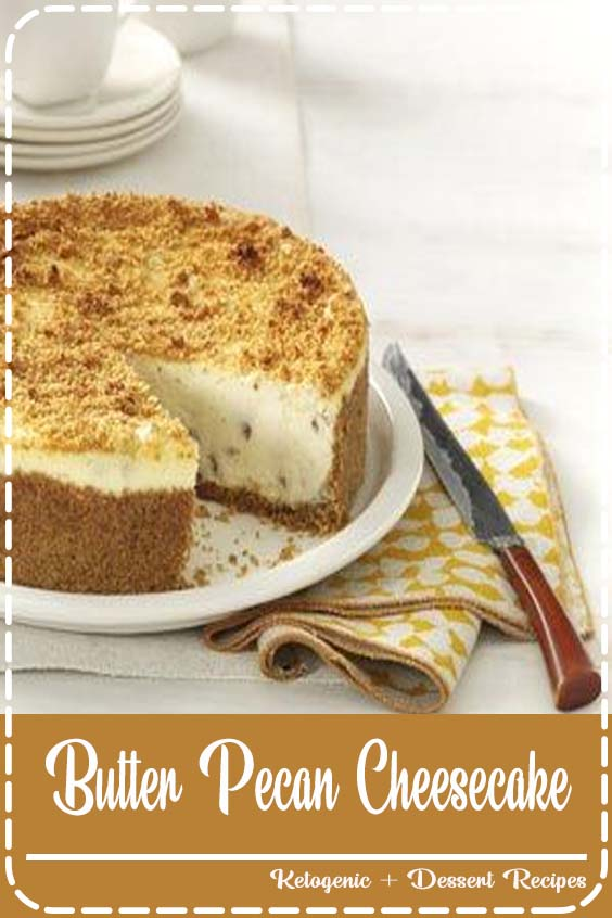 Fall always makes me yearn for this pecan cheesecake Butter Pecan Cheesecake