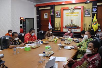 Pemprov Lampung Ikuti Rapat Gabungan XXI FKD-MPU Tahun 2021