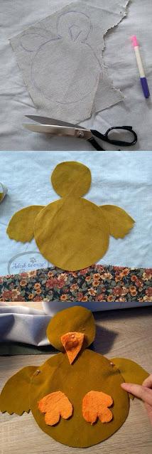 DIY poszewki wielkanocne na poduszki - Adzik tworzy
