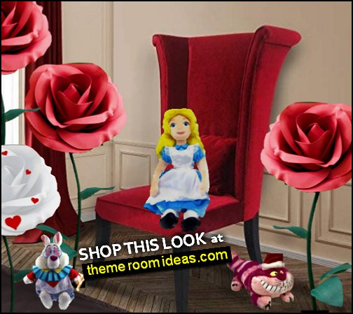 Mad Hatter Red Velvet Chair alice in wonderland bedroom furniture