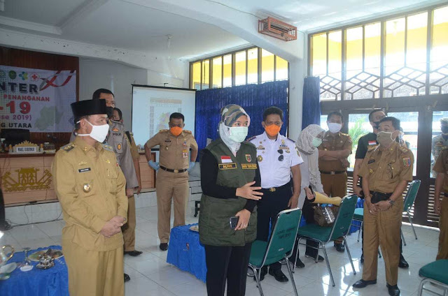 Wakil Gubernur Lampung Lakukan Kunjungan Lapangan Pemantauan Gugus Tugas Percepatan Penanganan Covid 19 di Kabupaten Lampung Utara