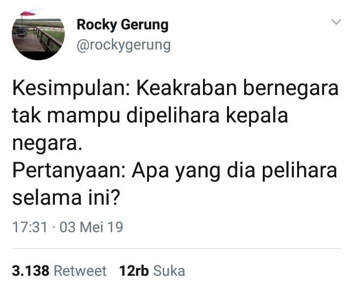 Rocky Gerung Sampaikan Pertanyaan Kritis, Jawaban Abu Janda Bikin Jijik!