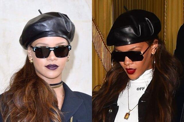 2017-03-03 パリで開催した「ディオール/Dior」2017年秋冬コレクション、雑誌「VOGUE/ヴォーグ」のイベントディナーに出席したリアーナ(Rihanna)。