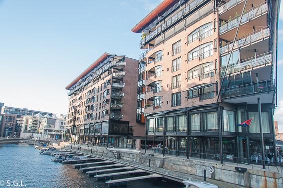 Aker Brygge en Oslo. Noruega