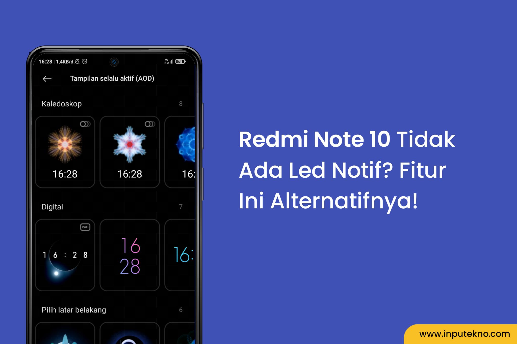 Mengaktifkan fitur AOD Redmi Note 10
